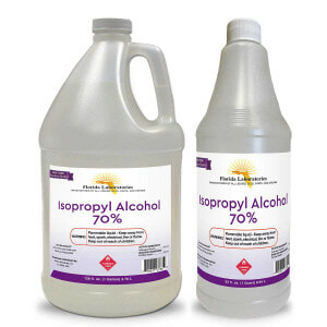 gallon quart bottle isopropyl alcohol 70 flalab florida laboratories
