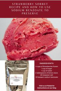 Homemade Strawberry Sorbet Sodium Benzoate