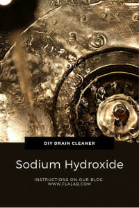 Drain Cleaner using Sodium Hydroxide